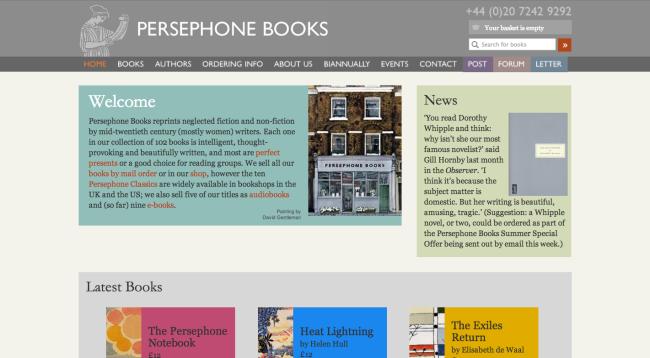 Persephone Books' Web Site